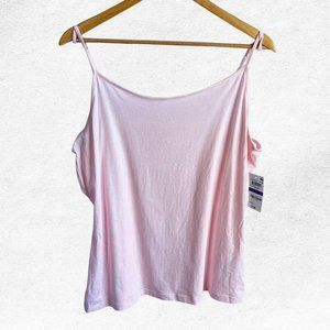 Maison Jules Pink Fitted Sleeveless Tank Top Cami